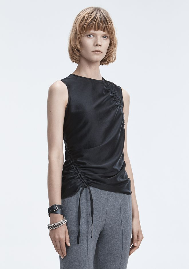 T by ALEXANDER WANG RUCHED TOP  TOPS Adult 12_n_a