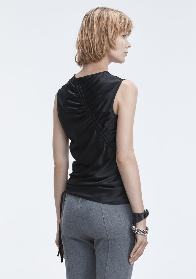 T by ALEXANDER WANG RUCHED TOP  TOPS Adult 12_n_d