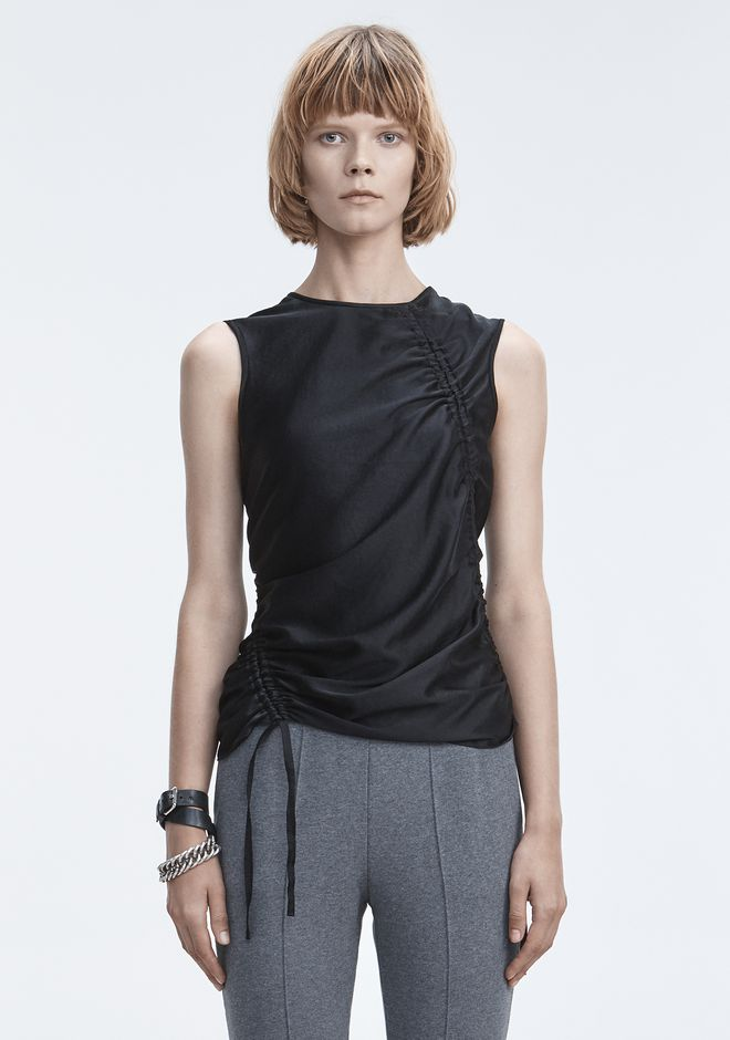 T by ALEXANDER WANG RUCHED TOP  TOPS Adult 12_n_e
