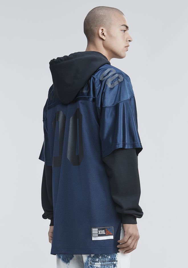 ALEXANDER WANG TOPS FOOTBALL HYBRID HOODIE