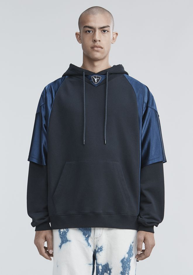 ALEXANDER WANG FOOTBALL HYBRID HOODIE TOP Adult 12_n_a