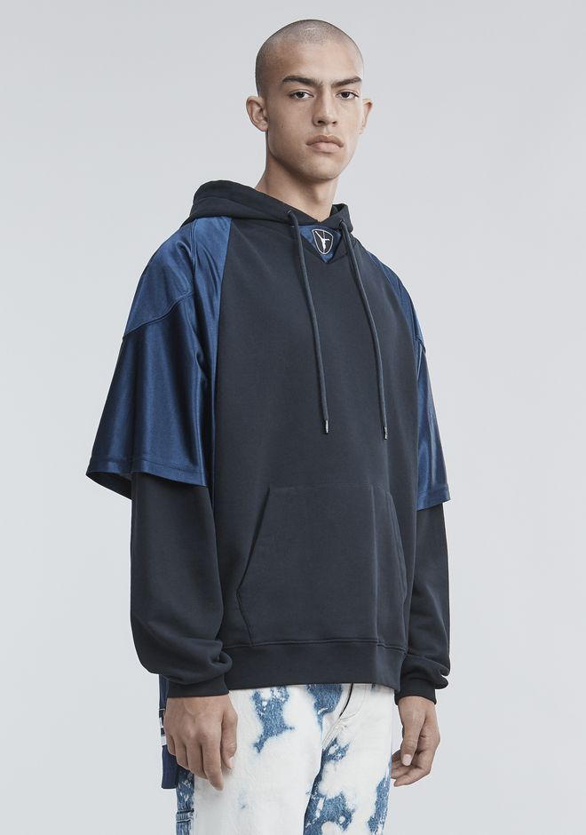 ALEXANDER WANG FOOTBALL HYBRID HOODIE TOP Adult 12_n_d