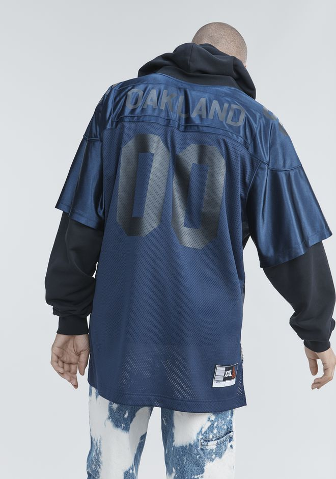 ALEXANDER WANG FOOTBALL HYBRID HOODIE TOP Adult 12_n_r
