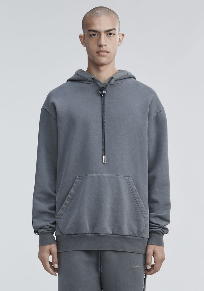 ALEXANDER WANG BOLO FLEECE HOODIE TOP Adult 12_n_a