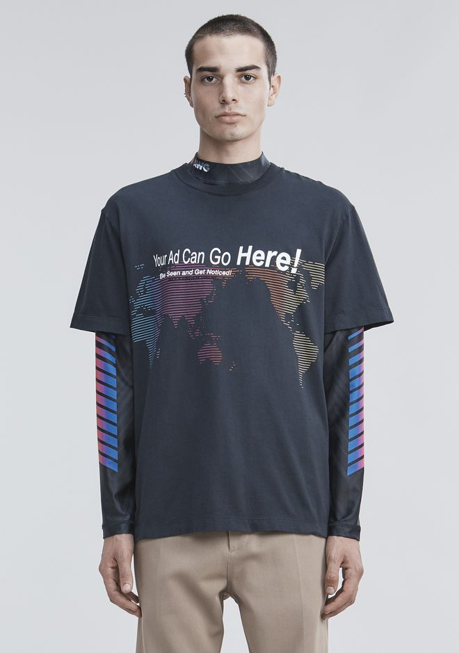 "ALEXANDER WANG TOPS ""YOUR AD CAN GO HERE"" T-SHIRT"
