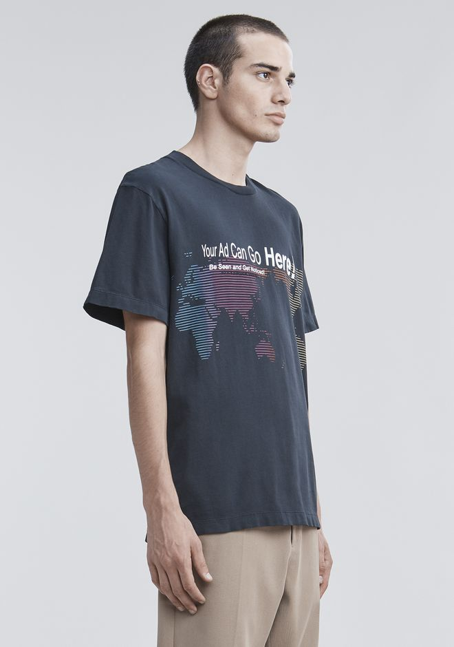 "ALEXANDER WANG ""YOUR AD CAN GO HERE"" T-SHIRT HAUTS Adult 12_n_a"