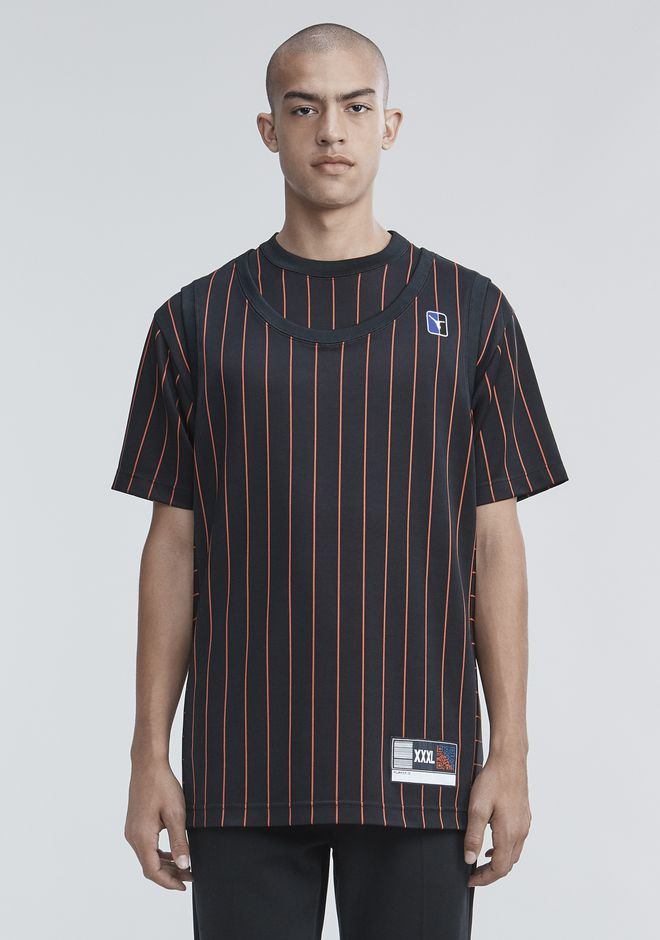 ALEXANDER WANG mens-new-apparel PINSTRIPE JERSEY TANK
