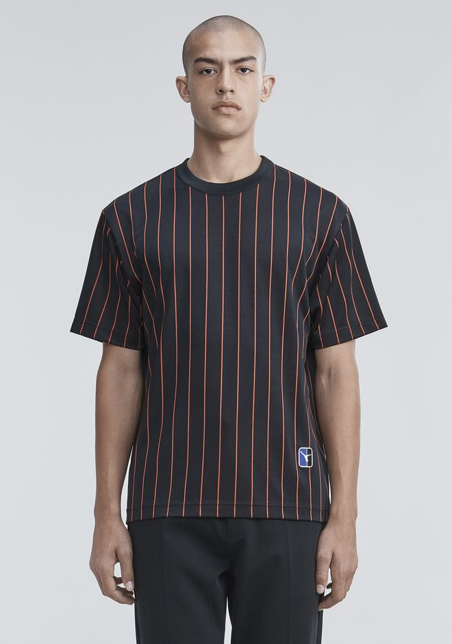 ALEXANDER WANG mens-new-apparel PINSTRIPE JERSEY T-SHIRT