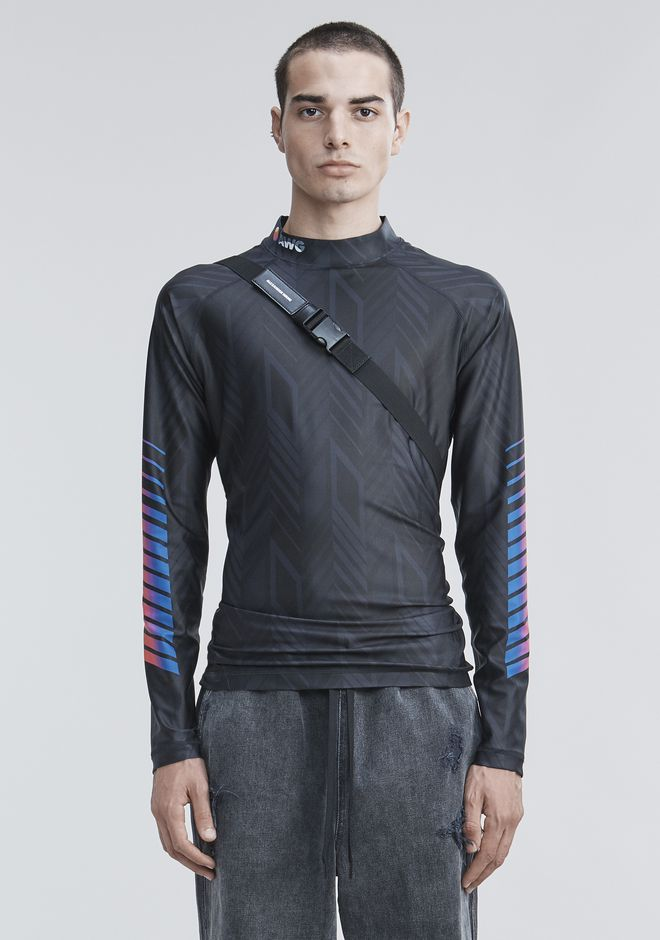ALEXANDER WANG LONG SLEEVE ATHLETIC GUARD TOP Adult 12_n_e