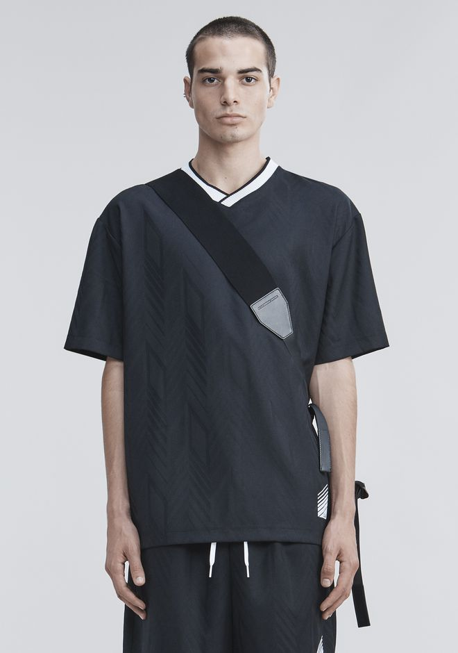ALEXANDER WANG TOPS Men WOOL SOCCER POLO
