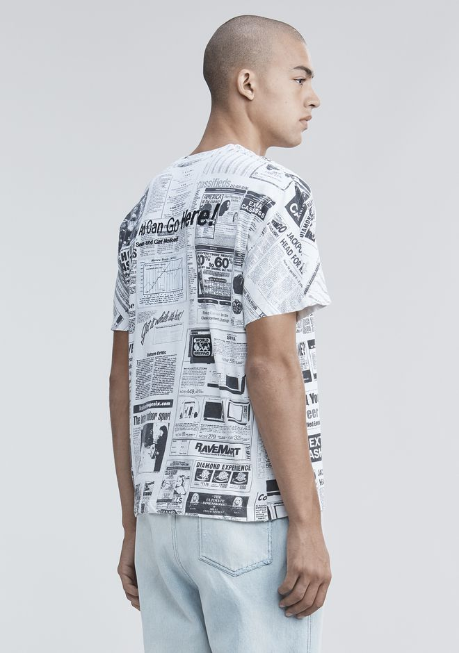 ALEXANDER WANG PAGE SIX NEWSPAPER T-SHIRT  TOP Adult 12_n_a