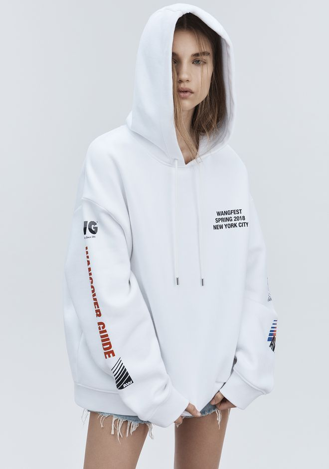 ALEXANDER WANG SPONSORED HOODIE TOP Adult 12_n_d