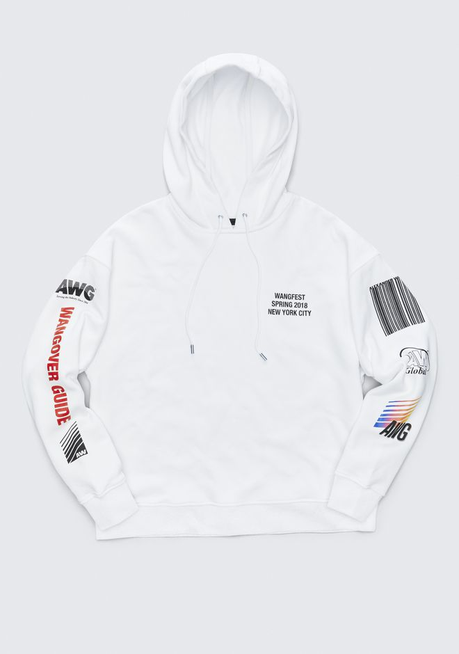 ALEXANDER WANG SPONSORED HOODIE TOP Adult 12_n_e