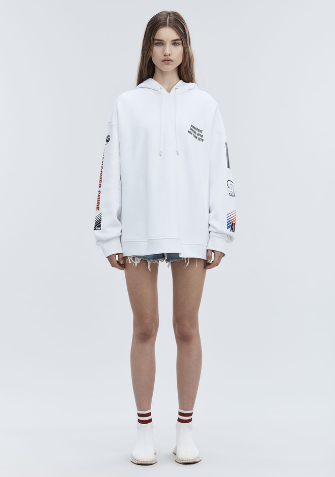 ALEXANDER WANG SPONSORED HOODIE TOP Adult 12_n_f