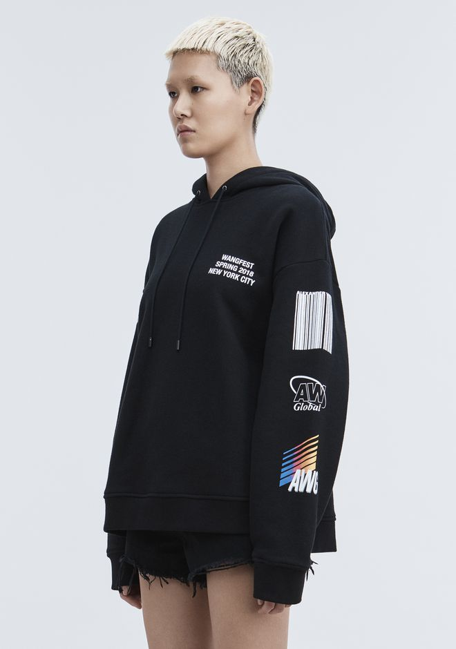 ALEXANDER WANG SPONSORED HOODIE TOP Adult 12_n_a