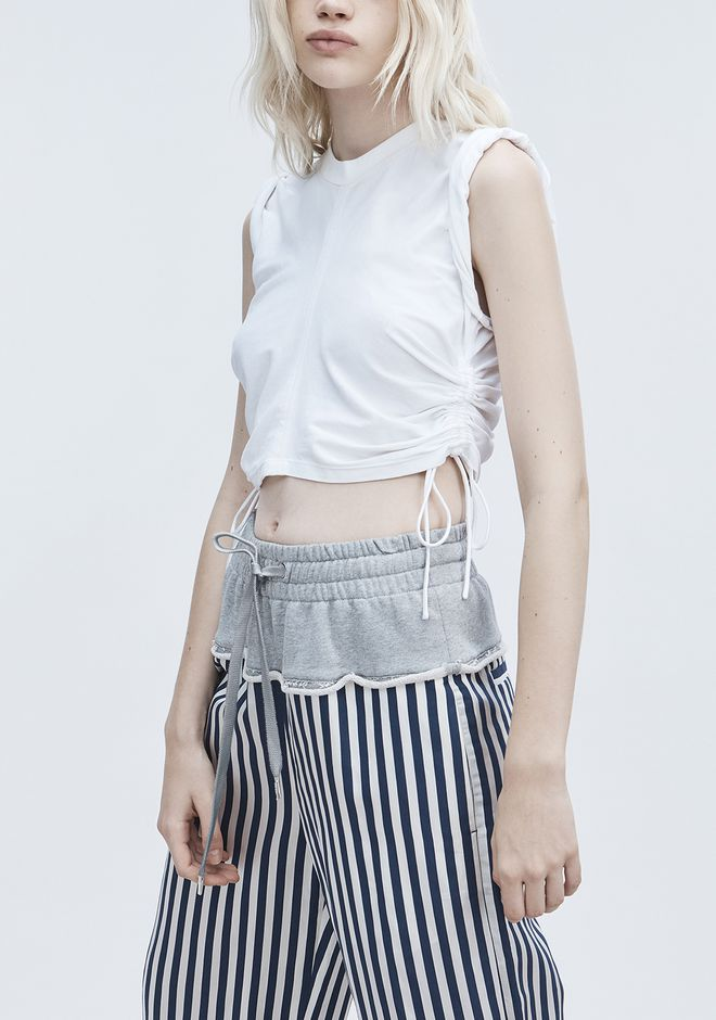 T by ALEXANDER WANG RUCHED CROP TOP  トップス Adult 12_n_r