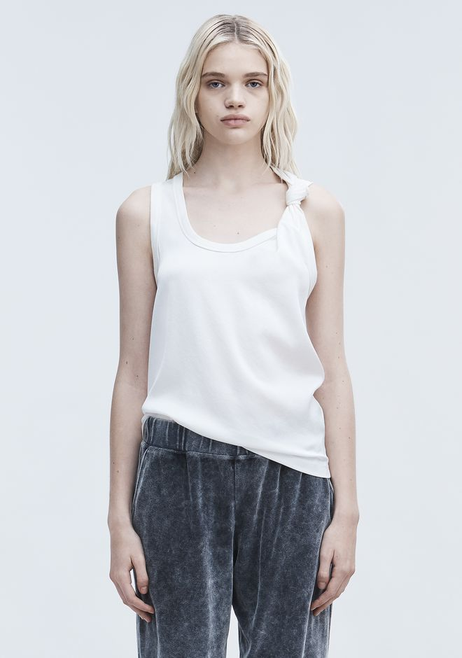 T by ALEXANDER WANG TOPS SATIN TANK