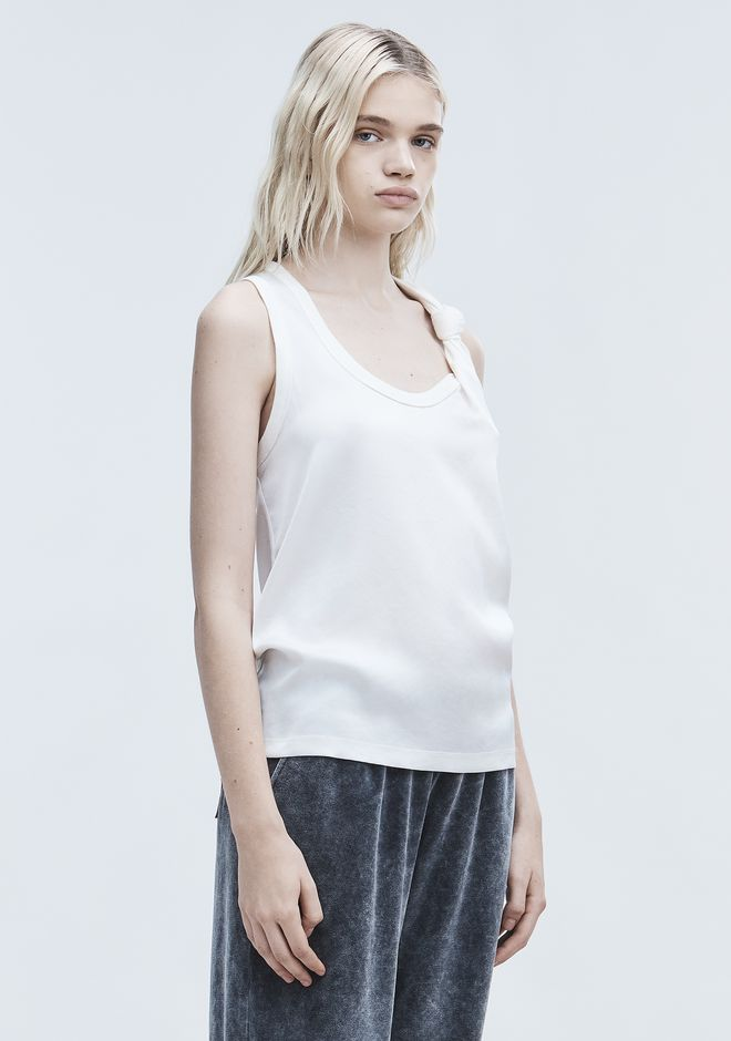 T by ALEXANDER WANG SATIN TANK TOP Adult 12_n_a