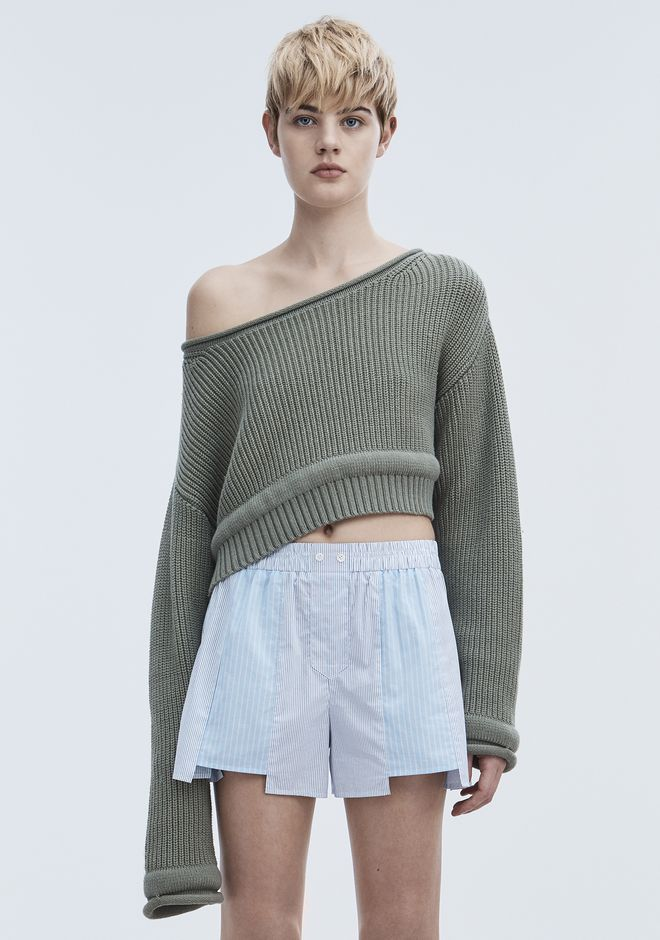 T by ALEXANDER WANG CHUNKY KNIT PULLOVER TOP Adult 12_n_e