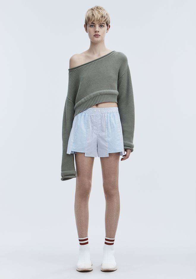 T by ALEXANDER WANG CHUNKY KNIT PULLOVER TOP Adult 12_n_f