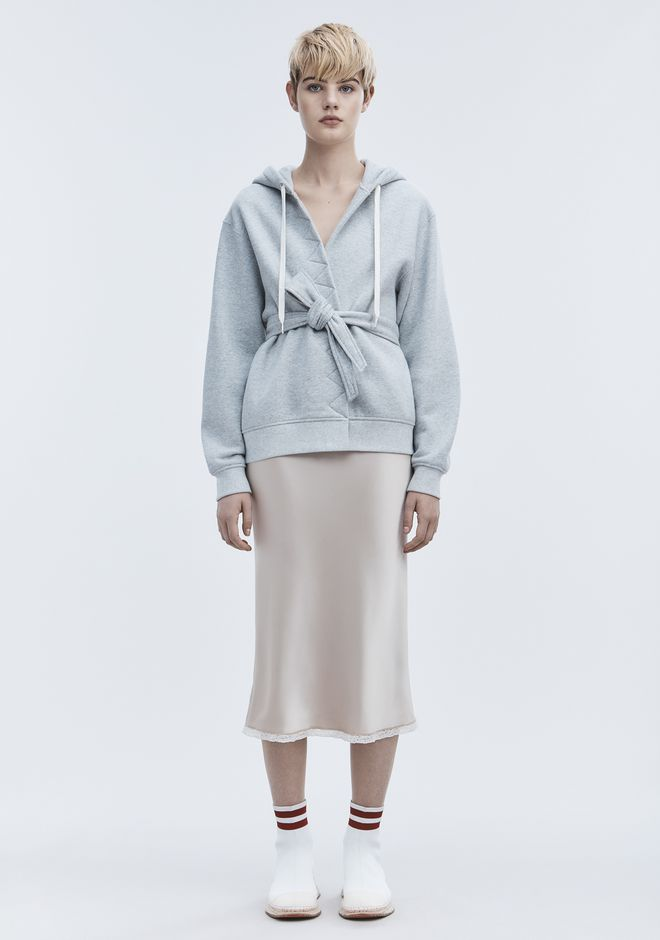 Wrap Fleece Hoodie by Alexander Wang
