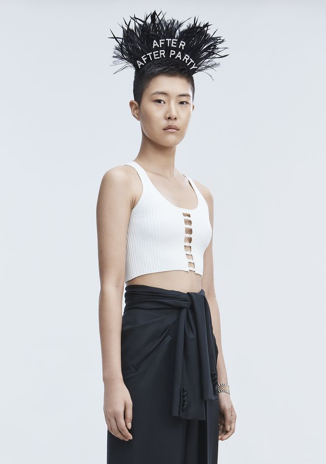 T by ALEXANDER WANG BRA STRAP CROPPED TANK CANOTTA Adult 12_n_a