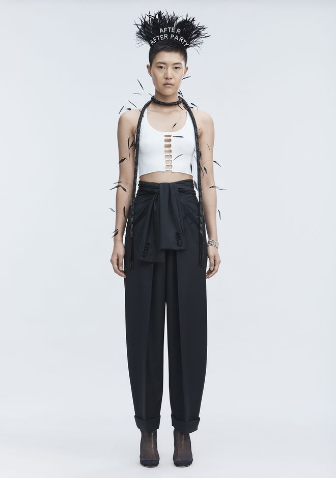 T by ALEXANDER WANG BRA STRAP CROPPED TANK CANOTTA Adult 12_n_f