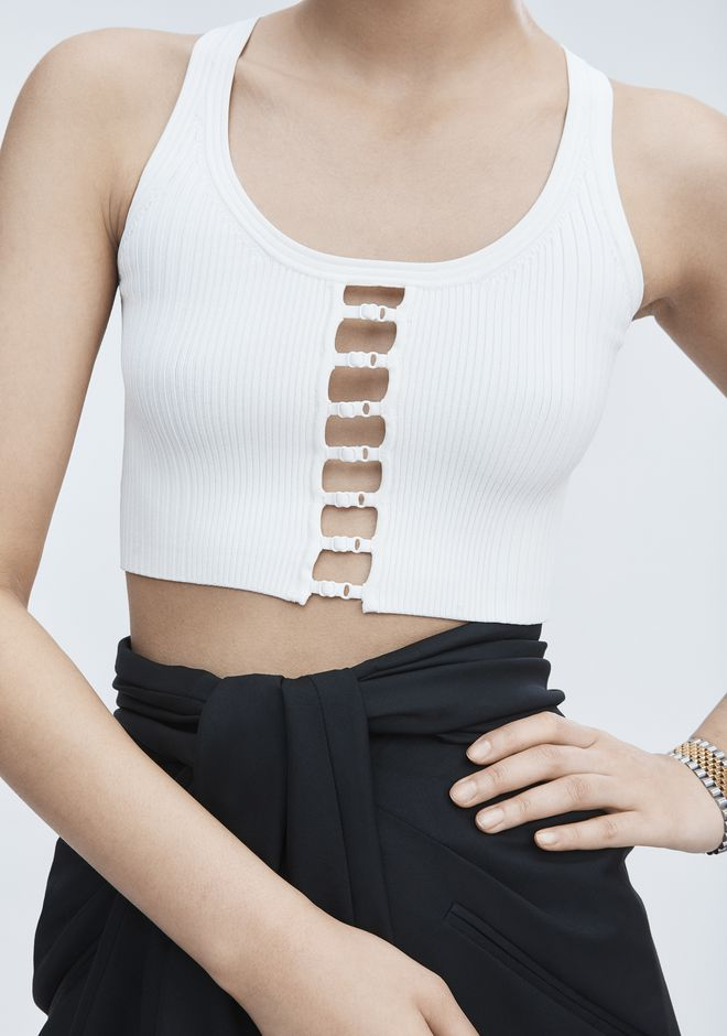 T by ALEXANDER WANG BRA STRAP CROPPED TANK CANOTTA Adult 12_n_r