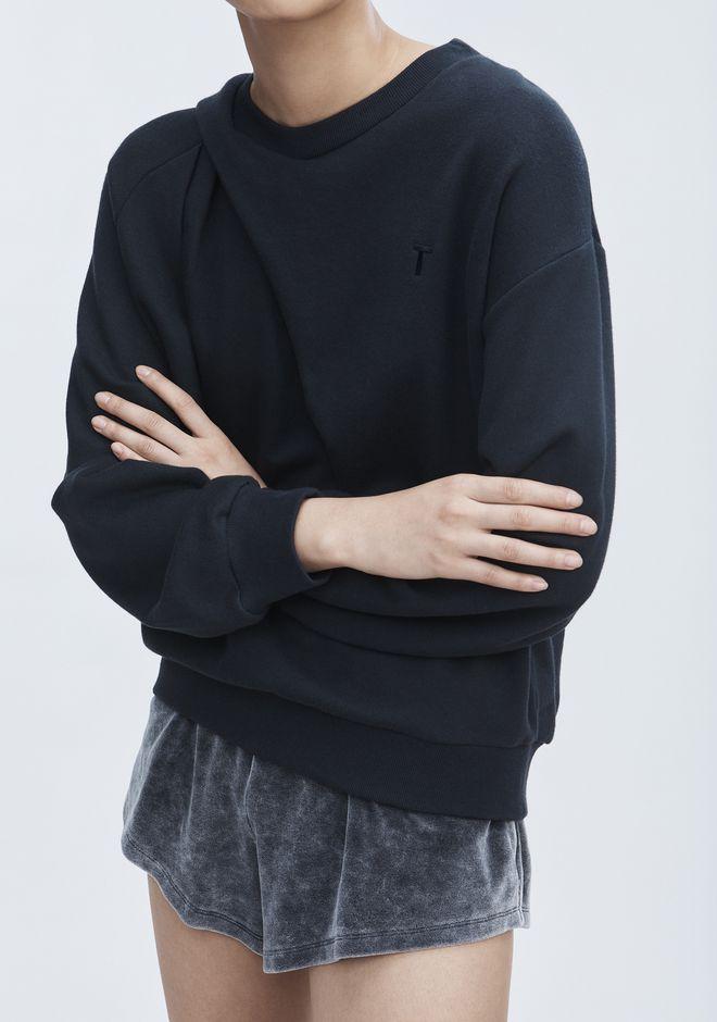 T by ALEXANDER WANG ASYMMETRIC DRAPE SWEATSHIRT 运动衫 Adult 12_n_r