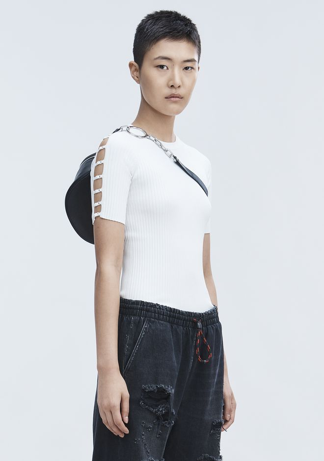 T by ALEXANDER WANG new-arrivals-t-by-alexander-wang-woman BRA STRAP RAGLAN TEE