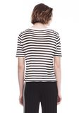 T by ALEXANDER WANG STRIPED T-SHIRT TOP Adult 8_n_d