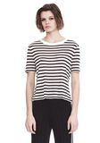 T by ALEXANDER WANG STRIPED T-SHIRT TOP Adult 8_n_e