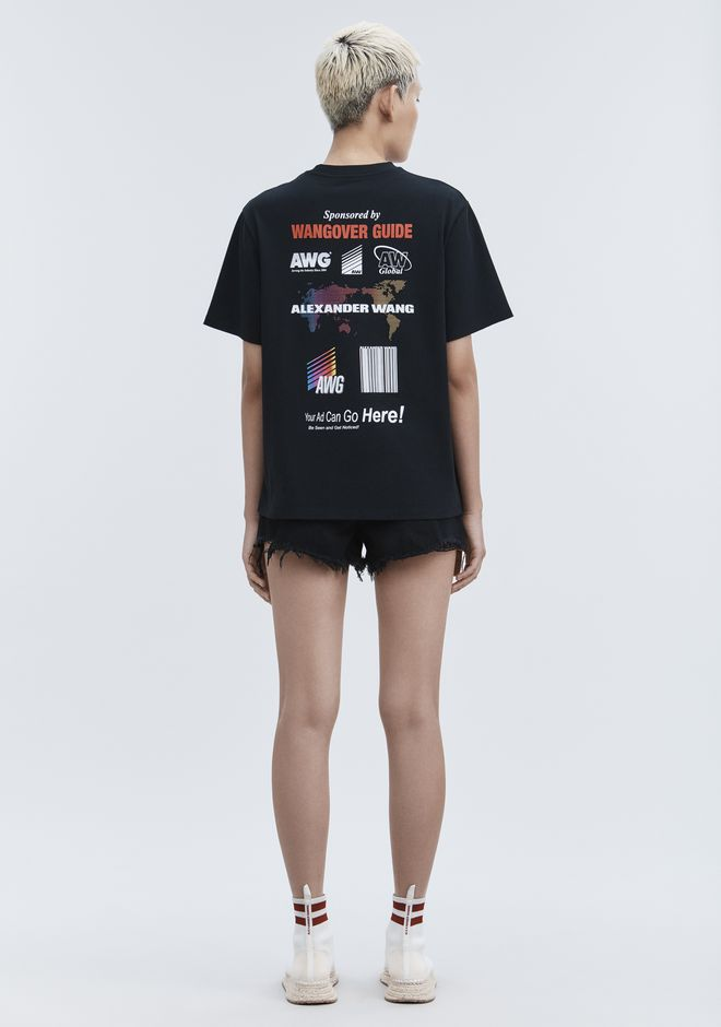 ALEXANDER WANG SPONSORED SHORT SLEEVE TEE TOP Adult 12_n_f