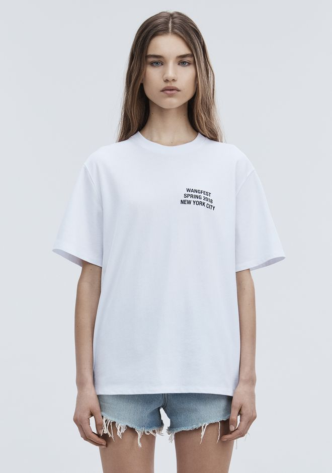 ALEXANDER WANG SPONSORED SHORT SLEEVE TEE TOP Adult 12_n_a