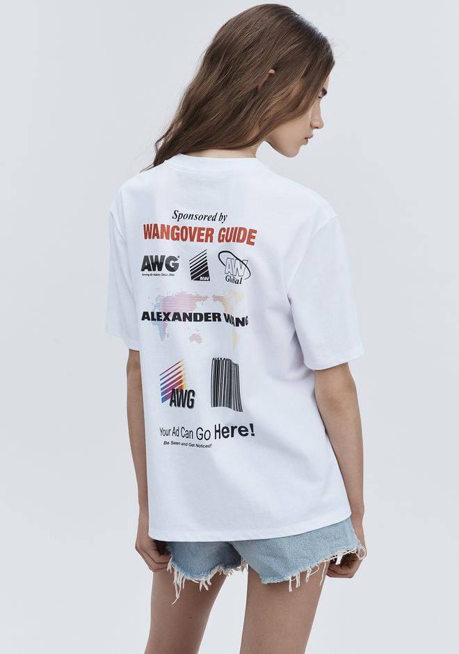 ALEXANDER WANG SPONSORED SHORT SLEEVE TEE TOP Adult 12_n_d