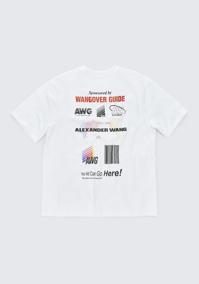ALEXANDER WANG SPONSORED SHORT SLEEVE TEE TOP Adult 12_n_r