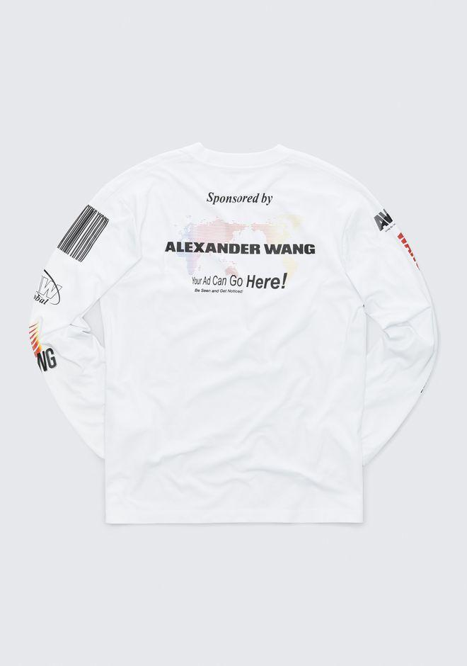 ALEXANDER WANG SPONSORED LONG SLEEVE TEE TOP Adult 12_n_r