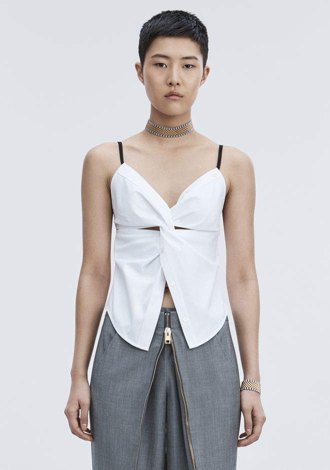 ALEXANDER WANG slrtwtp TWISTED FRONT CAMI TOP