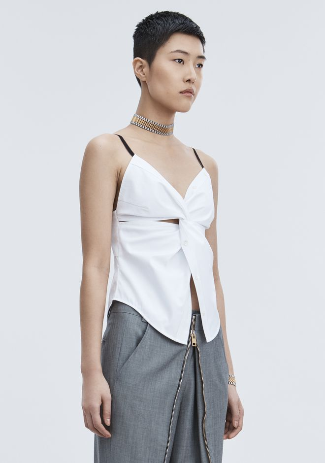 ALEXANDER WANG TWISTED FRONT CAMI TOP TOP Adult 12_n_a