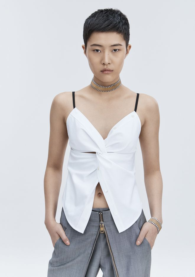 ALEXANDER WANG TWISTED FRONT CAMI TOP TOP Adult 12_n_r