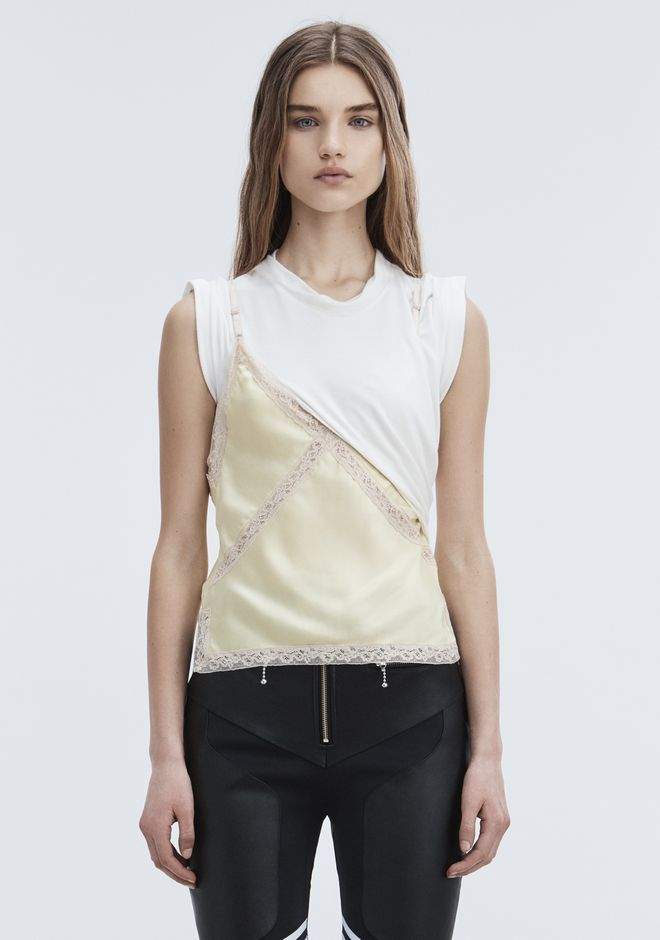 ALEXANDER WANG TOPS Women EXCLUSIVE T-SHIRT HYBRID CAMI