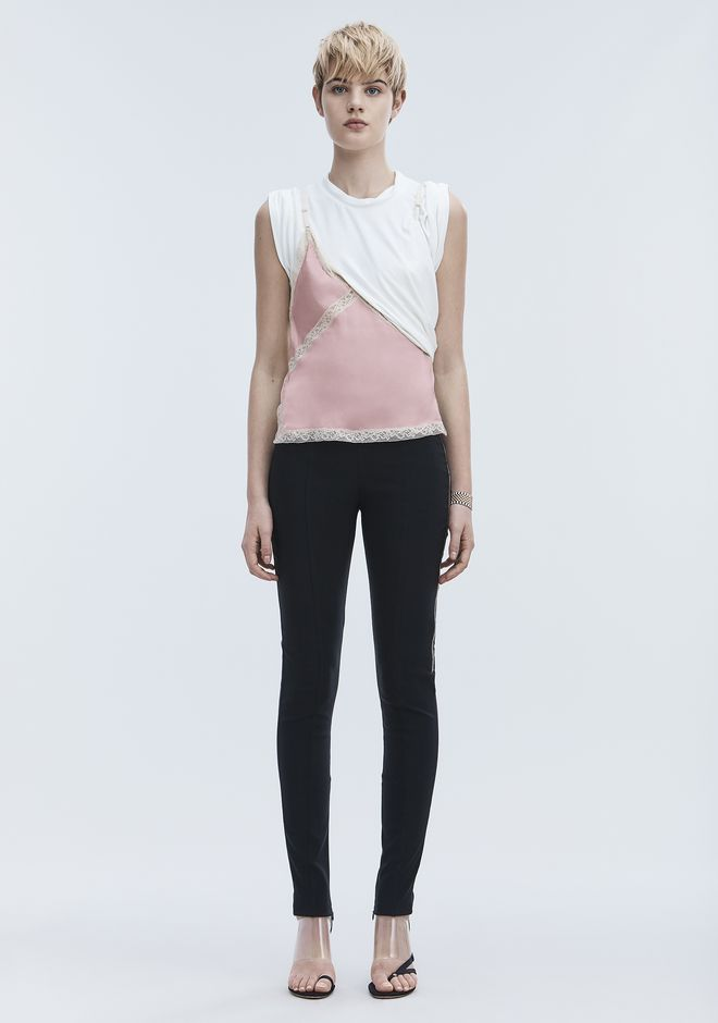 ALEXANDER WANG EXCLUSIVE T-SHIRT HYBRID CAMI TOP Adult 12_n_f