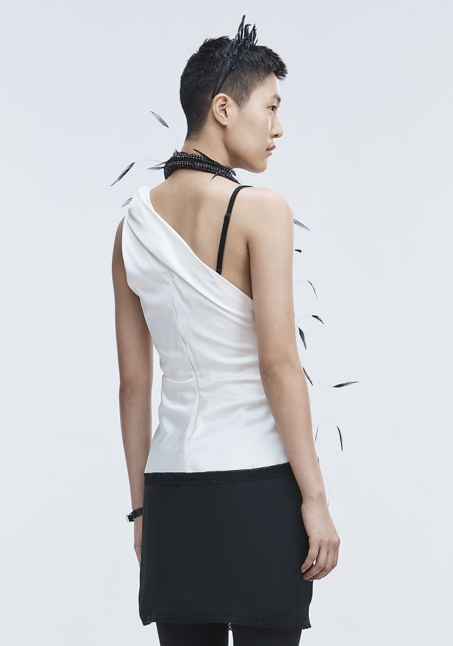 ALEXANDER WANG TWISTED DECONSTRUCTED CAMI  TOP Adult 12_n_d