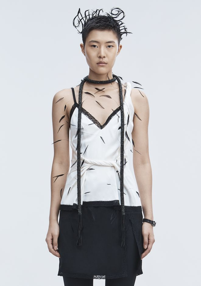 ALEXANDER WANG TWISTED DECONSTRUCTED CAMI  TOP Adult 12_n_e