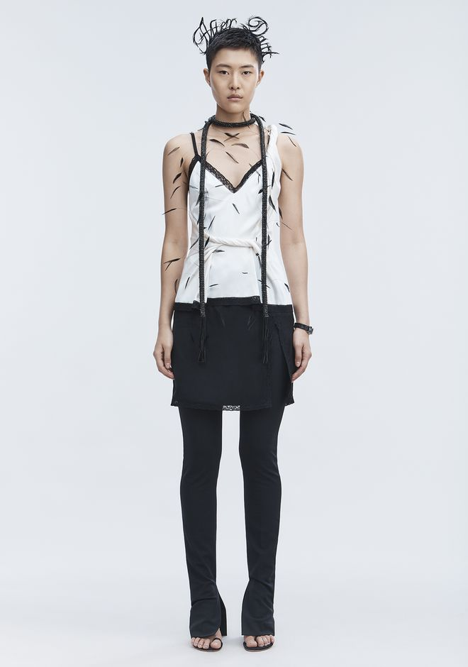 ALEXANDER WANG TWISTED DECONSTRUCTED CAMI  上衣 Adult 12_n_f