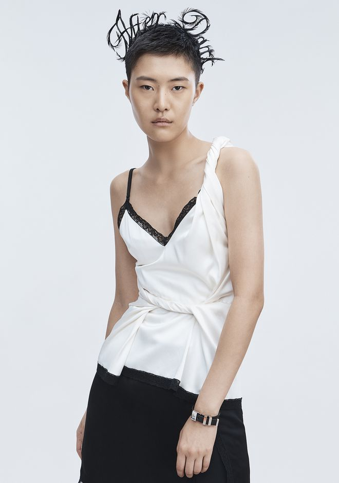 ALEXANDER WANG TWISTED DECONSTRUCTED CAMI  TOP Adult 12_n_r