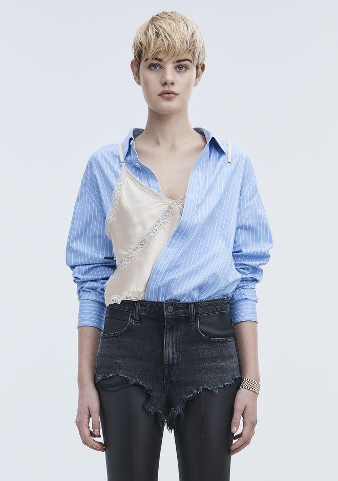 ALEXANDER WANG neuheiten-ready-to-wear-damenbekleidung PINSTRIPE HYBRID SHIRT