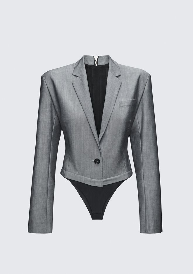 ALEXANDER WANG EXCLUSIVE BLAZER BODYSUIT TOP Adult 12_n_d