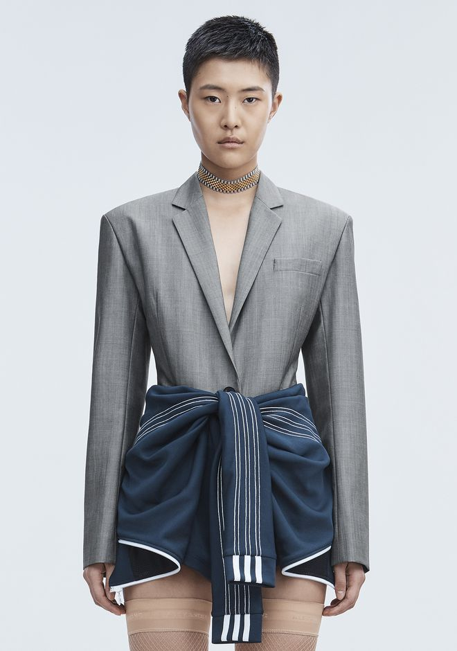 ALEXANDER WANG EXCLUSIVE BLAZER BODYSUIT TOP Adult 12_n_e
