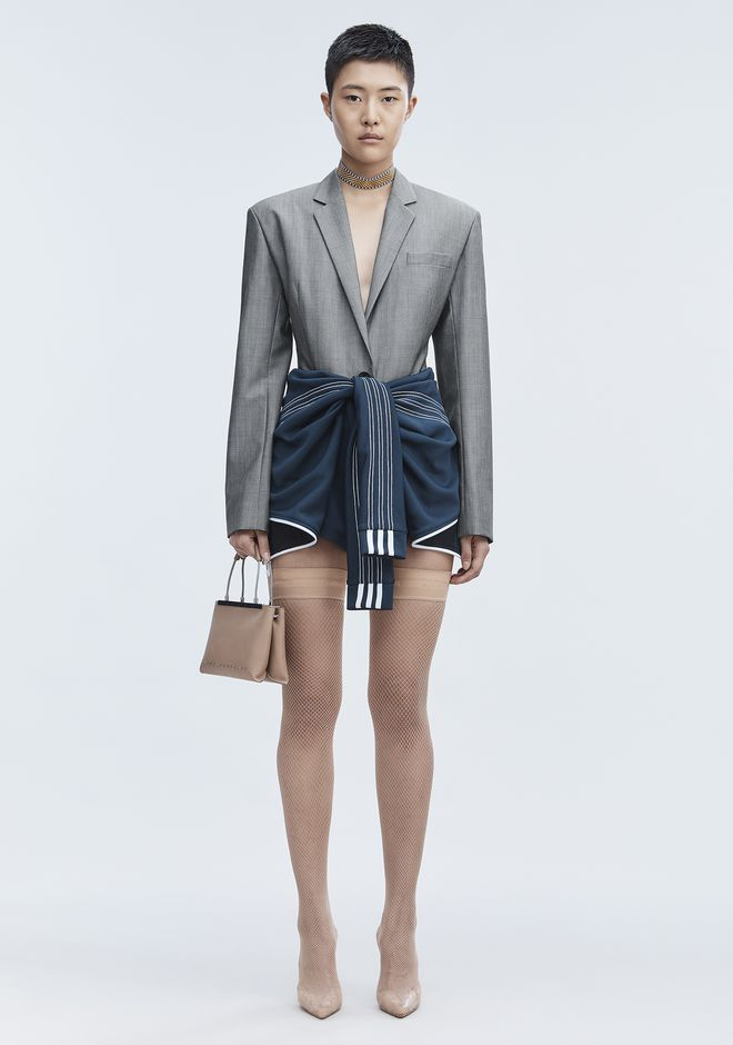 ALEXANDER WANG EXCLUSIVE BLAZER BODYSUIT TOP Adult 12_n_f